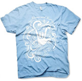 """Flower and Love with Sign Hand """" I LOVE YOU """" T-Shirt (White Print) Adult Size"""