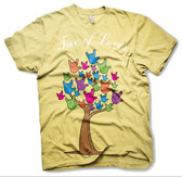"""""""Tree of Loves """"  Sign Hands """" I LOVE YOU""""  T-Shirt (Colorful Hands) ADULT SIZE"""