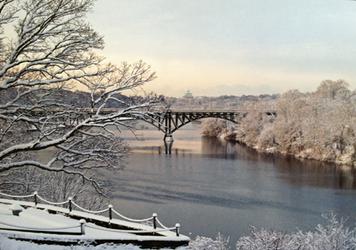 Winter River Postcard