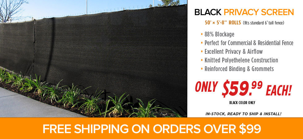 Black Privacy Fence Screen
