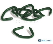 Hog Rings - Vinyl Coated Green - 100 ct.