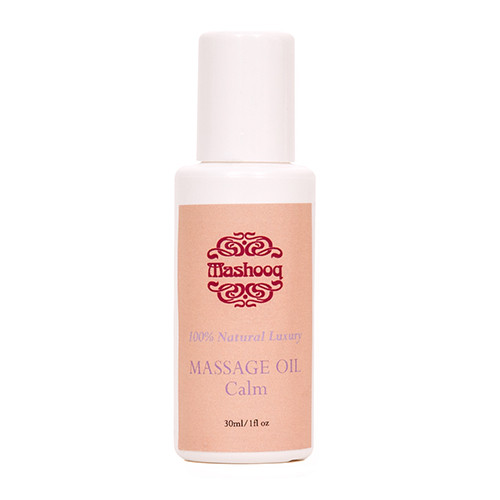 A calming blend of frankincense, lavender and neroli essential oils to bring serenity and uplift combined with Sweet Almond and Mashooq's Magic Oil to soothe, nourish and soften the skin.