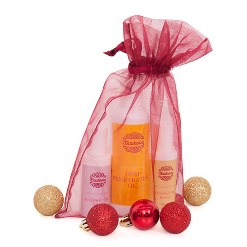 This pack includes 100ml Mashooq Deep Penetrating oil, 30 ml Revive Mashooq Massage Oil and 30 ml Relax Mashooq Massage Oil.