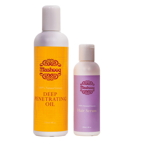 A complete hair care set for conditioning and styling.