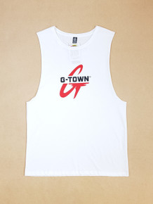 KINGPIN G-TOWN SINGLET WHITE/RED