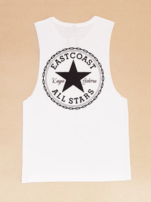 KINGPIN EASTCOAST ALL STARS SINGLET WHITE/BLACK