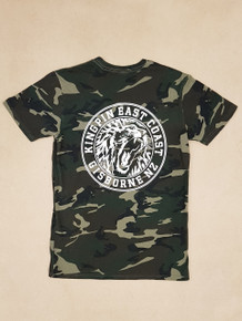 KINGPIN IRON LION CAMO TEE ARMY/WHITE