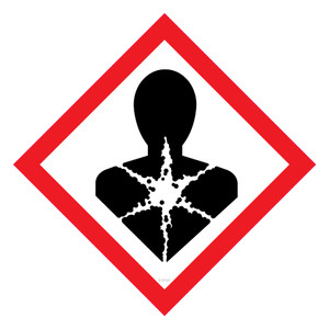 GHS Label HEALTH DANGER 100x100 - Pack x6 Decals