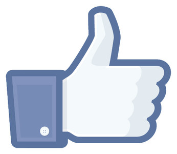 FACEBOOK THUMBS UP 80x70 DECAL