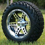 "14"" DOMINATOR Machined/Black Wheels and 23x10-14"" DOT All Terrain Tires Combo"