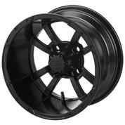 "10"" STORM TROOPER MATTE BLACK Aluminum Golf Cart Wheels - Set of 4"