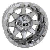 "12"" STI HD6 MIRRORED Aluminum Golf Cart Wheels - Set of 4"