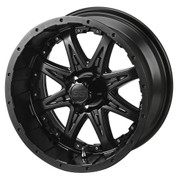 "14"" REVENGE Matte Black Aluminum Golf Cart Wheels - Set of 4"