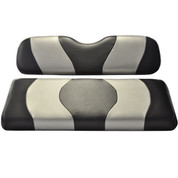 MADJAX Wave Two Tone Front Seat Covers in Black/Silver - Fits all Carts!
