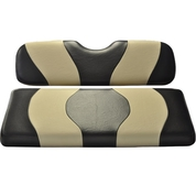 MADJAX Wave Two Tone Front Seat Covers in Black/Tan - Fits all Carts!