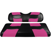 MADJAX Riptide Two Tone Front Seat Covers in Black/Pink -  Fits all Carts!