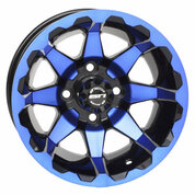 "12"" STI HD6 Radiant BLUE/Black Golf Cart Wheels - Set of 4"