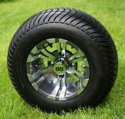 "10"" VAMPIRE Gunmetal Wheels and 205/65-10 ComfortRide DOT Tires - Set of 4"