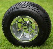 "10"" STORM TROOPER Gunmetal Wheels and 205/65-10 ComfortRide DOT Tires - Set of 4"
