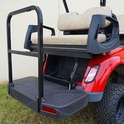 EZGO TXT Rhino 500 Series Aluminum Golf Cart Rear Seat Kit in Oyster (Fits 1996+)