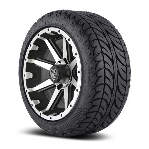 "Fairway Alloys Rebel 12"" wheel and EFX Fusion Street 205/30-12"" tire combo"