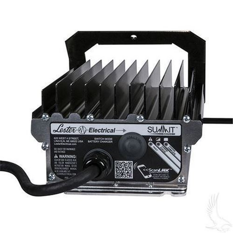 36-Volt Golf Cart Battery Charger w/ Crowsfoot Plug - Lester Summit Series High Frequency 36V/14A
