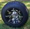 "SPYDER 10"" Golf Cart Wheel and Tire Kit"