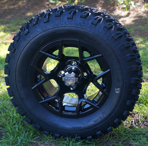 "RALLY 12"" Golf Cart Wheels and Low Profile Golf Cart Tires"