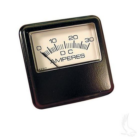 30A Square gauge Ammeter (For Lester Chargers made Before 12/1990)