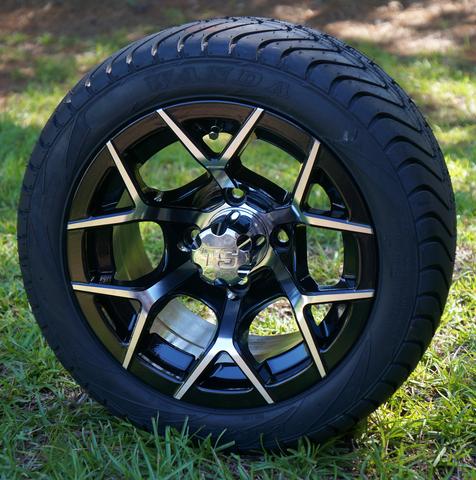 "Steeleng 12"" EUROSPORT Wheel and Low Profile DOT 215/40-12 Tires"