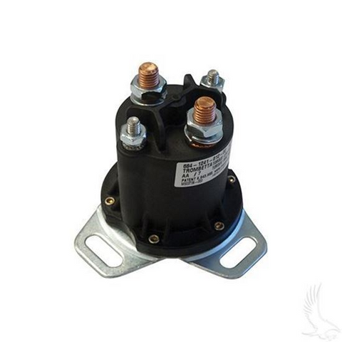 Club Car 12-Volt 4-Terminal Copper Solenoid (For Gas 1984+, Different Footprint)
