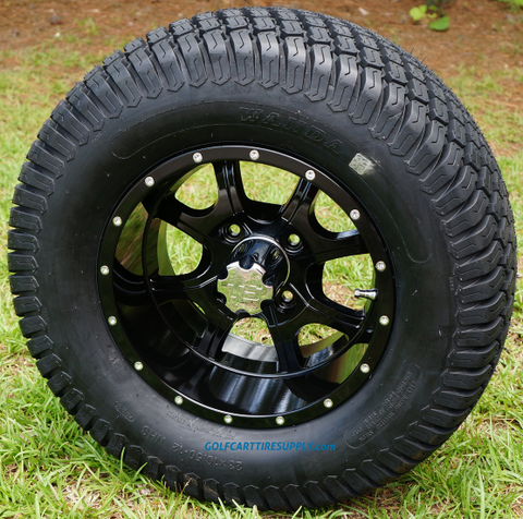 "12"" STALKER Wheels and 23x10.5-12"" Turf Tires Combo"