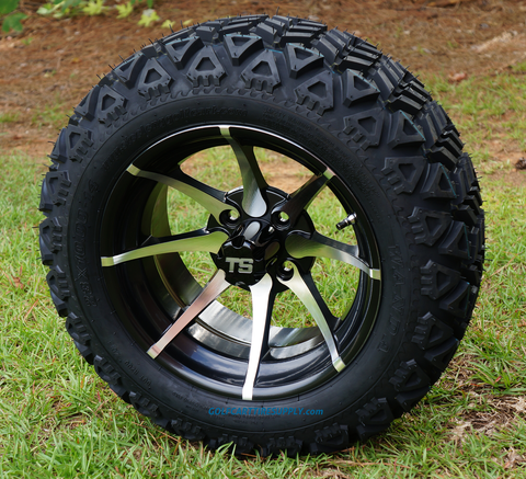 "KRAKEN 14"" Golf Cart Wheels and 23"" All Terrain Tires Combo"