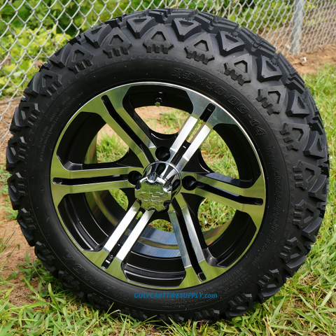 "JUDGE 14"" Golf Cart Wheels and 23"" All Terrain Tires Combo"