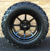"HYDRA 14"" Golf Cart Wheels and 23"" All Terrain Tires Combo"