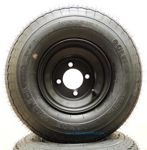 RHOX 18x8.50-8 Golf Cart Tire and Back Steel Wheel Combo