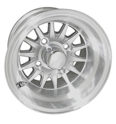 "RHOX Phoenix 10"" Machined/ Silver Golf Cart Wheels 14 spoke"
