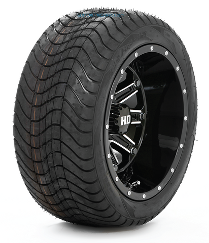 "STI HD4 Black 12"" Wheels and Slasher GFX 215/40-12 Tires"