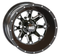 "STI HD4 Black 12"" Wheels and Slasher AT Trail 23"" Tires"