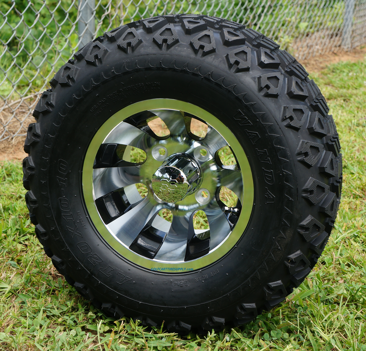 10 Inch Wheels For Golf Cart : Revolver quot golf cart wheels and dot all