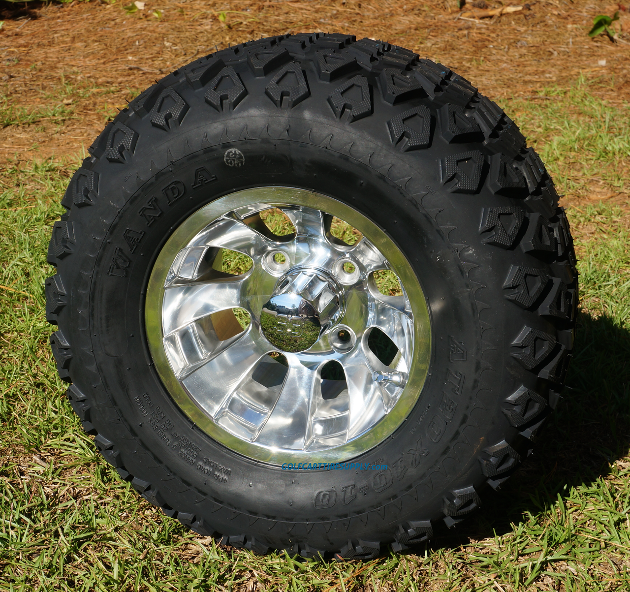 10 Inch Wheels For Golf Cart : Quot silver bullet golf cart wheels and dot all