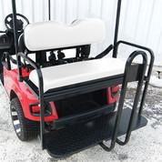 Rhino 700 Series SS EZGO TXT Golf Cart Rear Flip Seat Kit - White (fits 1996+)