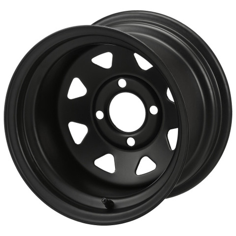 12x7 Black Steel Golf Cart Wheels