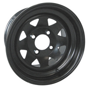 12x7.5 Black Steel Golf Cart Wheels
