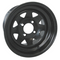 12x7.5 Black Steel Golf Cart Wheels