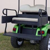 EZGO TXT Aluminum Rear Seat / Cargo Box Combo Kit - OYSTER (fits 1996+)