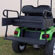 EZGO TXT Aluminum Rear Seat / Cargo Box Combo Kit - Black (fits 1996+)