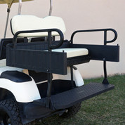 EZGO RXV Aluminum Rear Seat / Cargo Box Combo Kit - Black