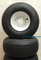 RHOX 18x8.50x8 Golf Cart Tires and 8x7 White Steel Wheels Combo