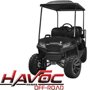 Yamaha Drive/G29 MadJax HAVOC Off Road Front Cowl w/ Fascia & Headlights - BLACK